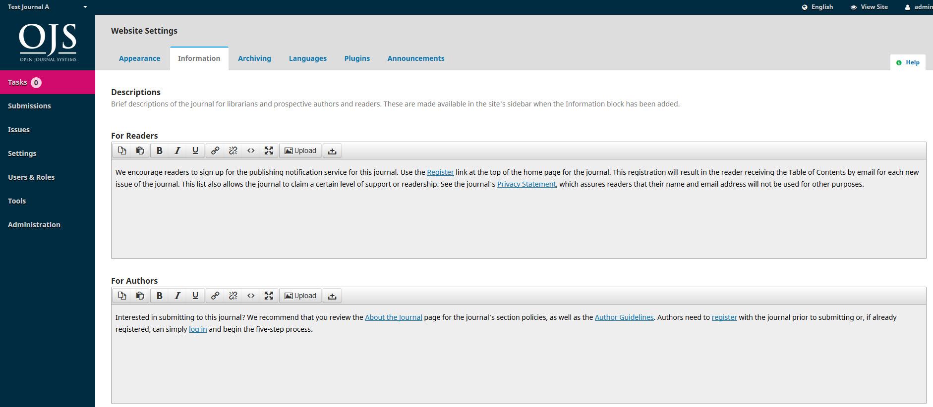 ojs3-website-settings-information