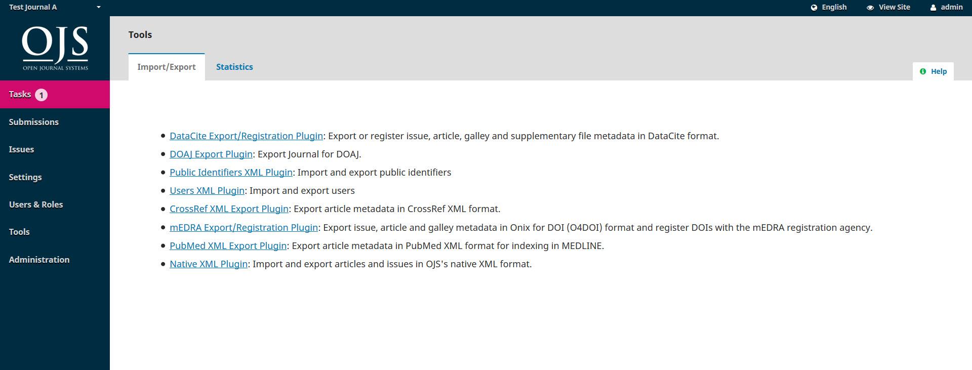 ojs3-import-export