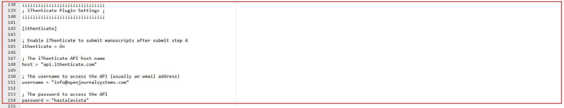 OJS 3.x iThenticate plugin configuration